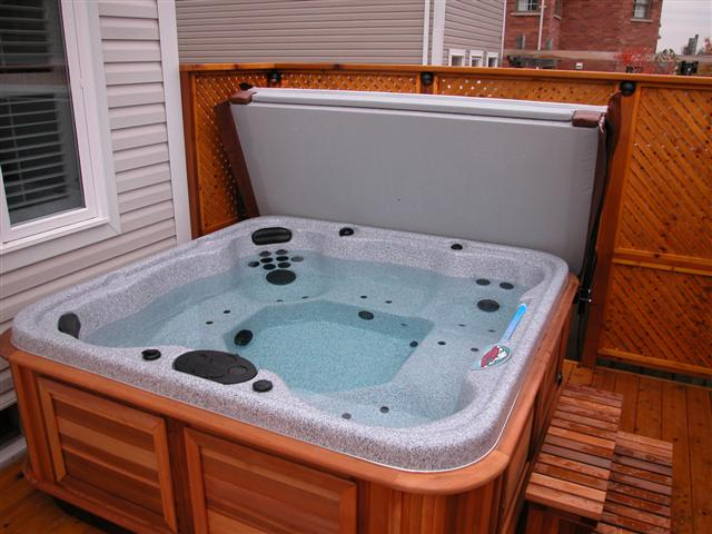 Cabinet Larger Than The Hot Tub