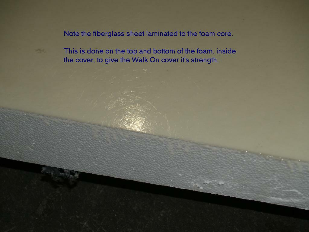 What makes the Walk On hot tub cover able to support 400 pounds ...