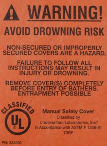 UL Manual Safety Cover label example