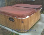 Heavy, waterlogged hot tub cover / spa cover