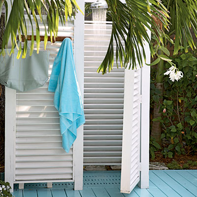 Build an Outdoor Shower to Save Money and Increase Hot Tub