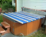 Temporary hot tub cover